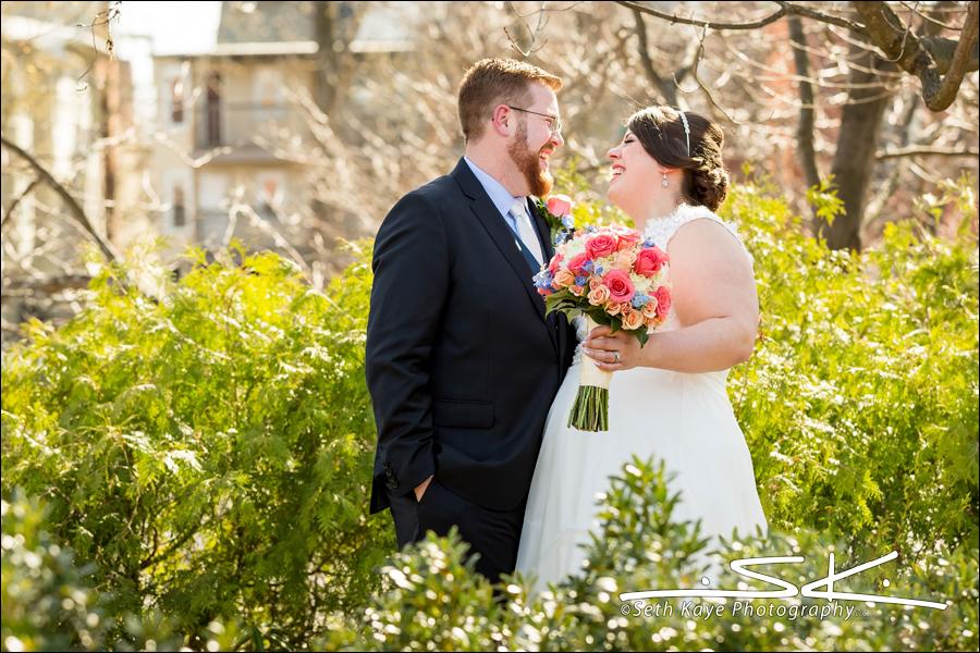 Union Station wedding portrait