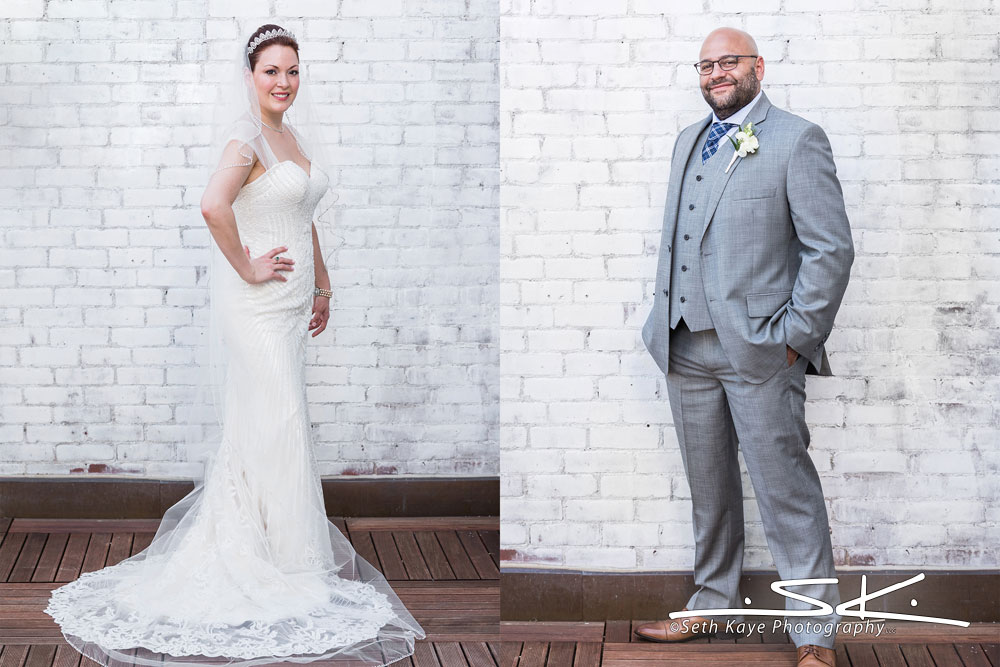 bride portrait and groom portrait
