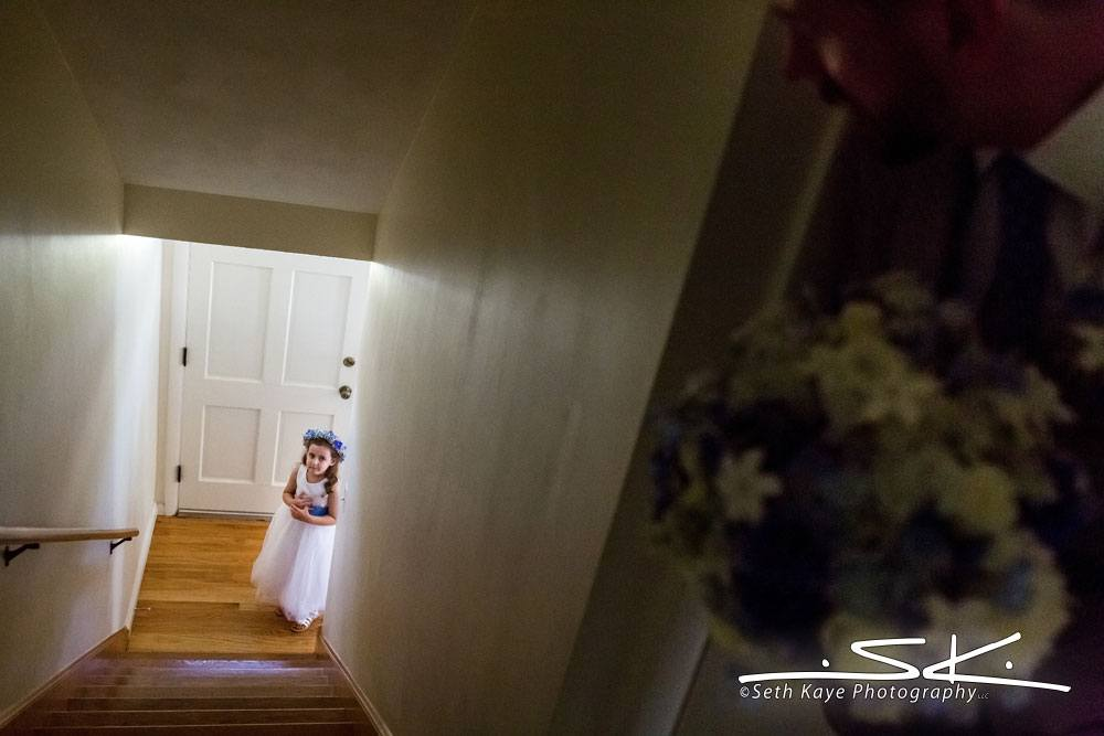 flowergirl waiting patiently