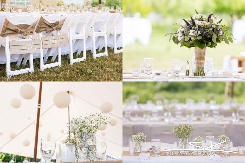 tented wedding details
