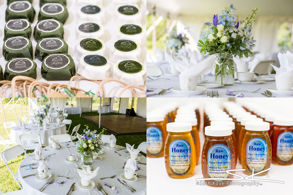 wedding favors, flowers, and details