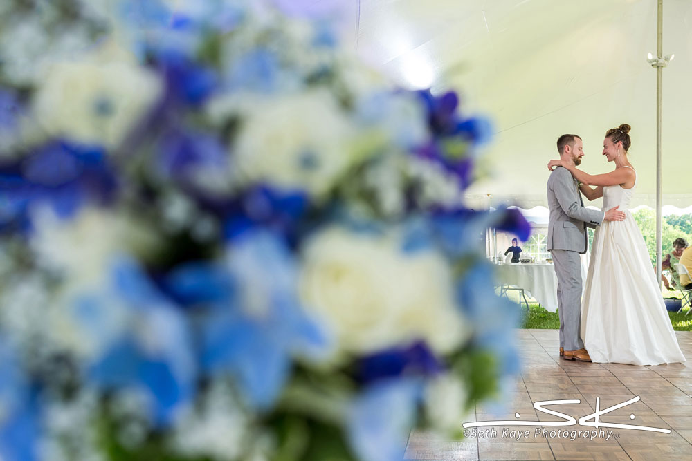 tent wedding first dance