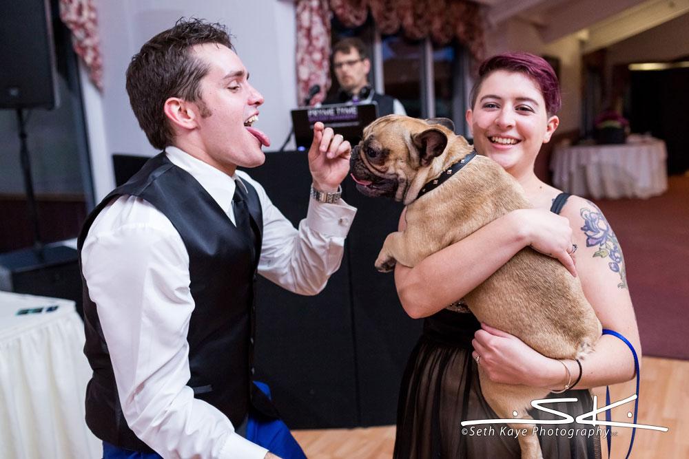 groom and dog ringbearer