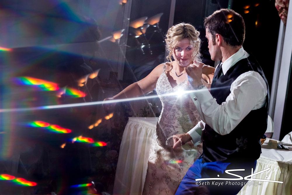 wedding reception reflections