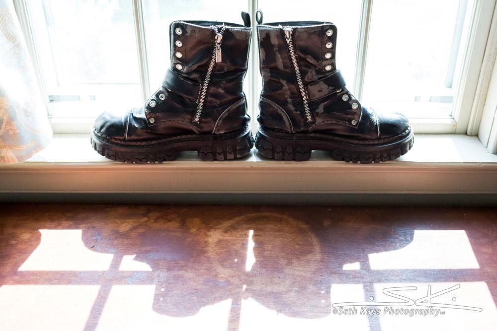 wedding combat boots