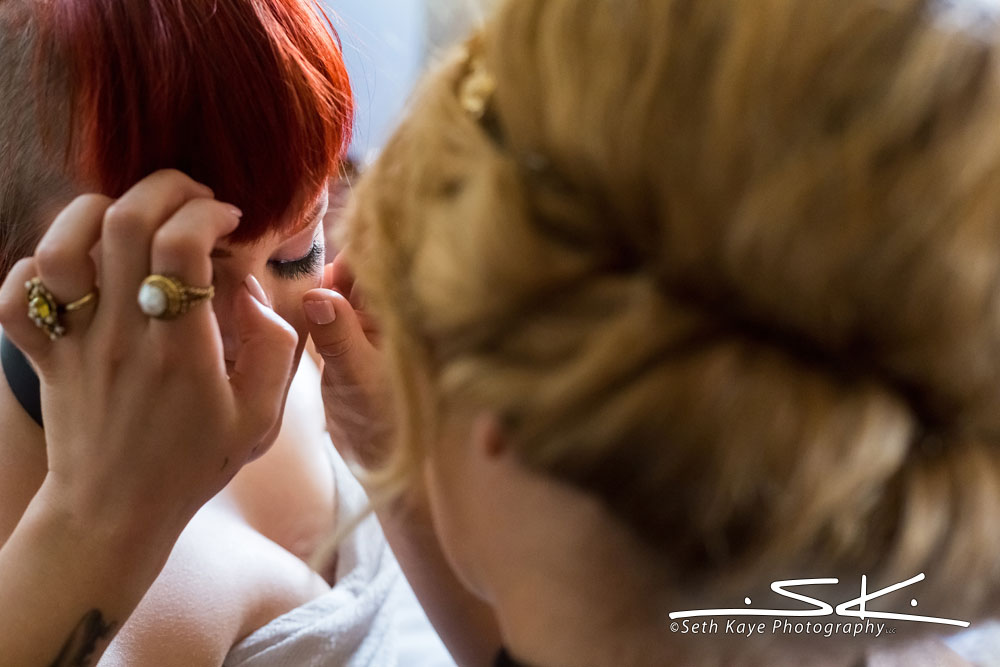 bride makeup and eyelashes