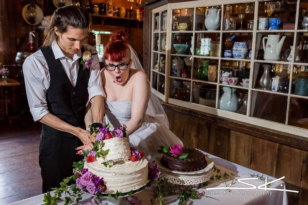cake cutting mishap